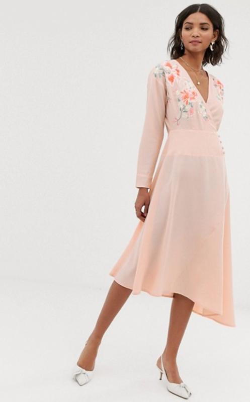 Kleid Taufpatin mit langen Armen